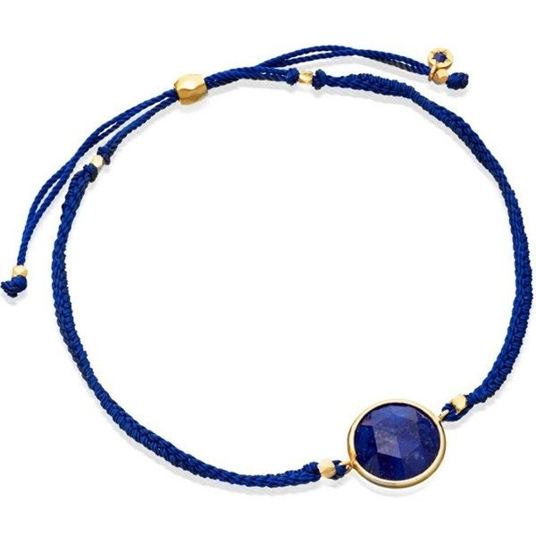 ASTLEY CLARKE Lapis Polka 18ct yellow gold-plated bracelet ($94) ❤ liked on Polyvore featuring jewelry, bracelets, gold bangles, gold jewelry, friendship bracelet, yellow gold bangle and astley clarke