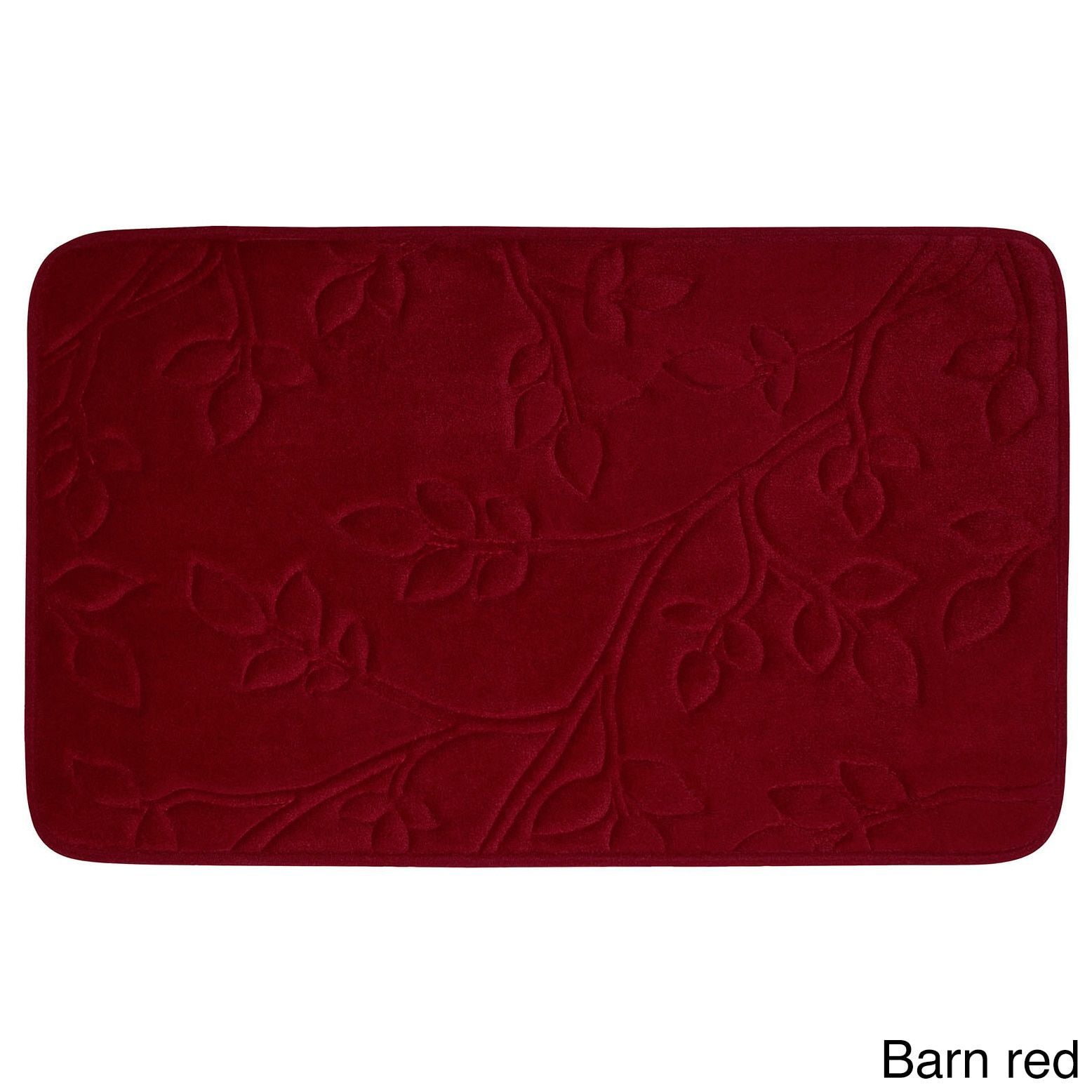 Spring Leaves Micro Plush 17 x 24-inch Bath Mat with BounceComfort Technology