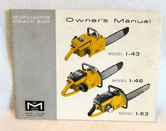 Vintage mcculloch chain saw 1962 chainsaw owners manual for vintage mcculloch chain saw 1962 chainsaw owners manual for greentooth Choice Image