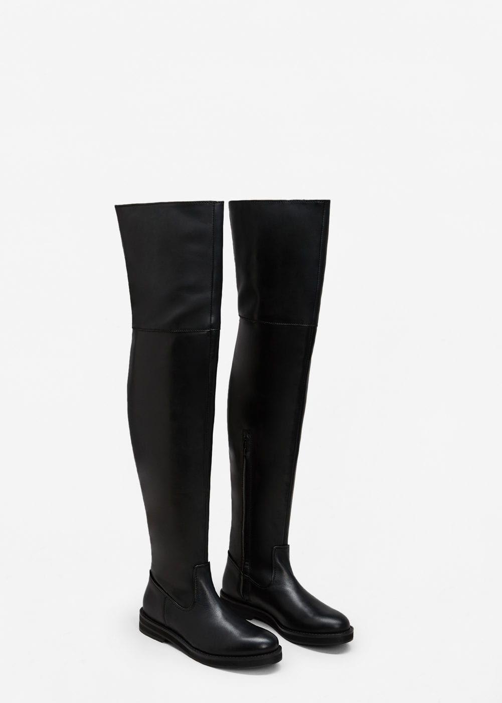 Bottes hautes cuir - Femme   Accessoires   Chaussure botte, Cuir et ... 1f947a703675