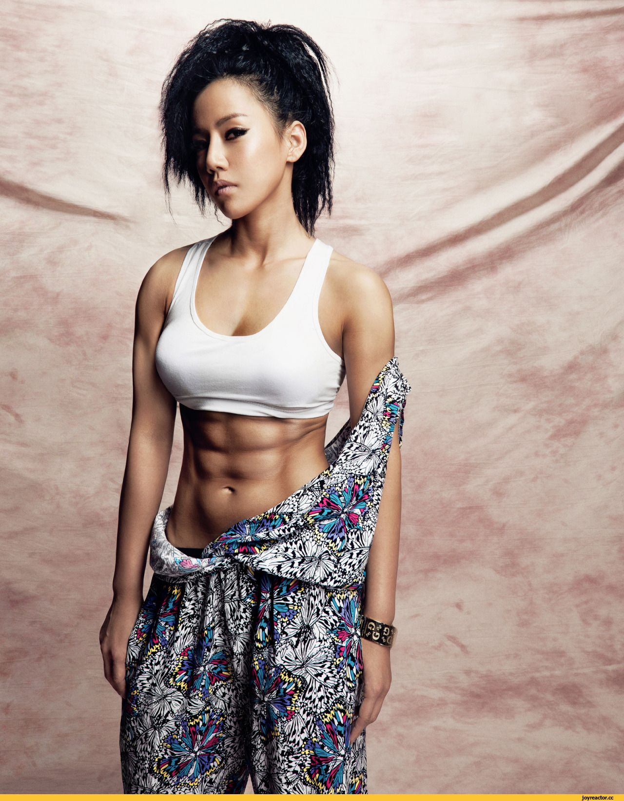 Sexy strong cute asian woman