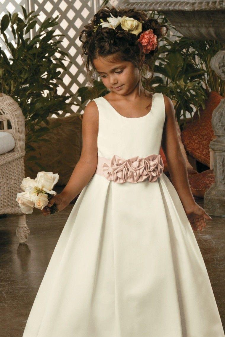 c53b6dca6d7 New Arrival Flower Girl Dresses A Line Scoop Floor Length Satin ...