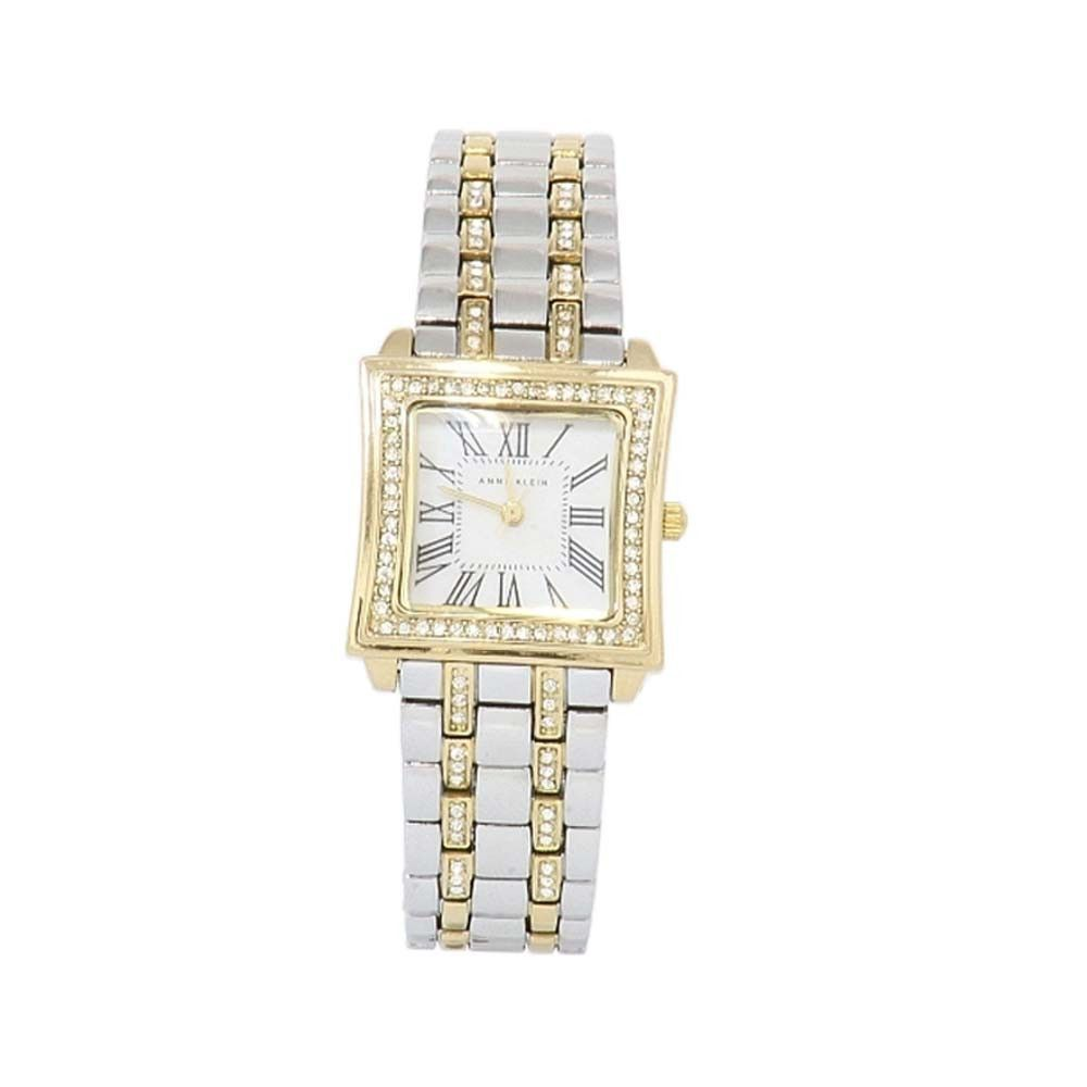 Anne Klein 10-9749MPTT Women's MOP Dial Crystal Accent Two-Tone Stainless Steel Watch