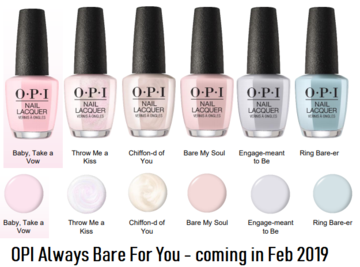opi always bare for you 2019 sheer shades  opi nail