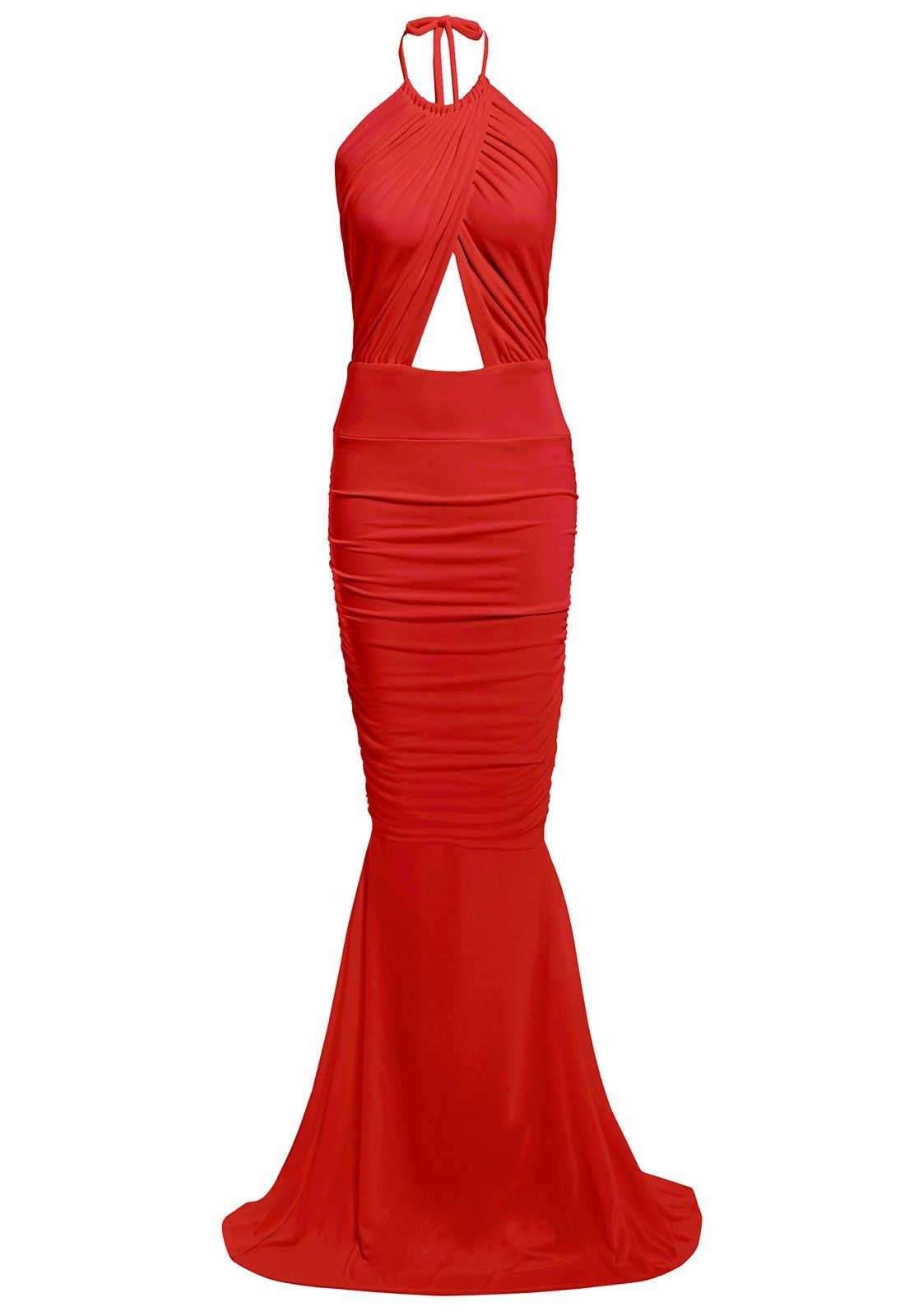 Honor Gold Erin Maxi Dress With Fishtail in Red - Evening dresses -  Occasions d5cadc9d5