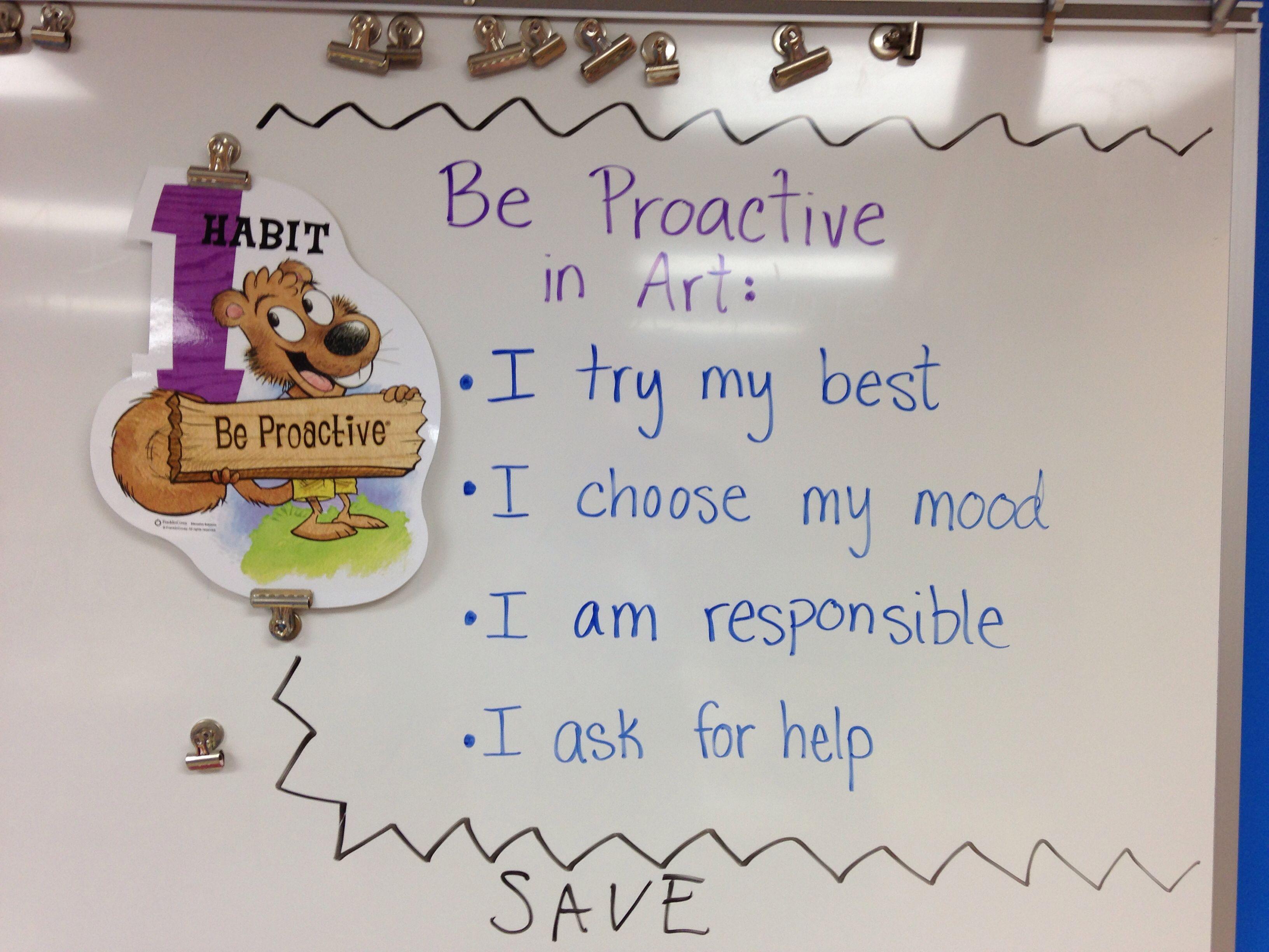 Be Proactive In Art