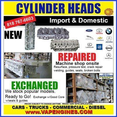 Cylinder Head Repair Auto Machine Shop Los Angeles Gas Diesel Cylinder Head Cylinder Machine Shop