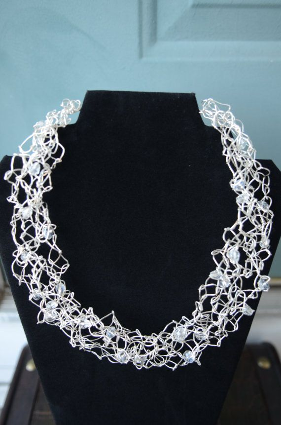 A crochet necklace or bracelet might be kind of unique - kind of ...