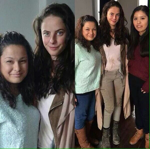 Kaya and fans on the set of the Scorch Trials