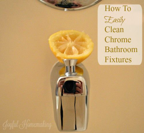 How to Clean Chrome Bathroom Fixtures | How to clean ...