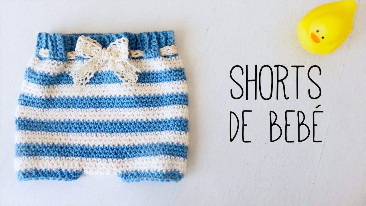 CUBRE PAÑAL tejido a crochet | SHORTS de bebé (ENGLISH SUB ...