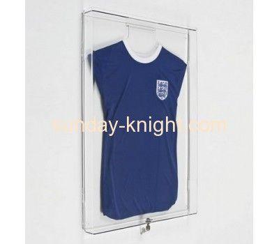 wall mounted plexiglass acrylic cheap jersey display cases dbk040