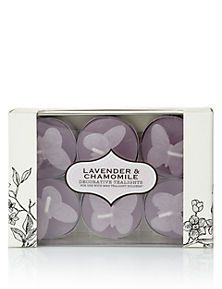 Lavender & Chamomile Decorative Scented Tealights