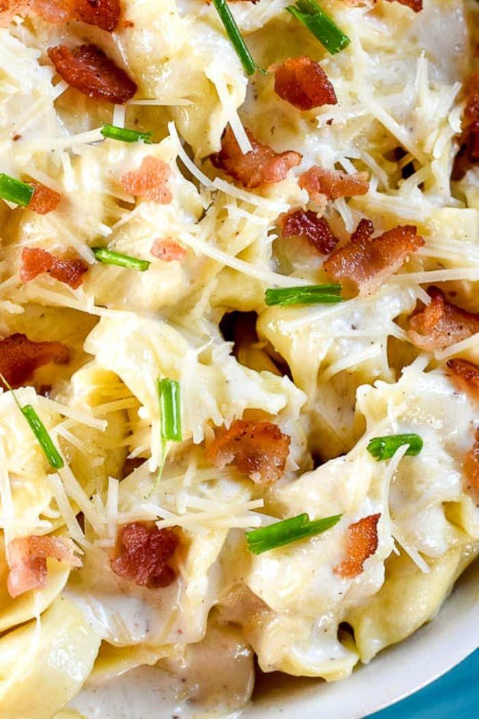 Tortellini Al Forno | Parmesan cream sauce, Tortellini ...
