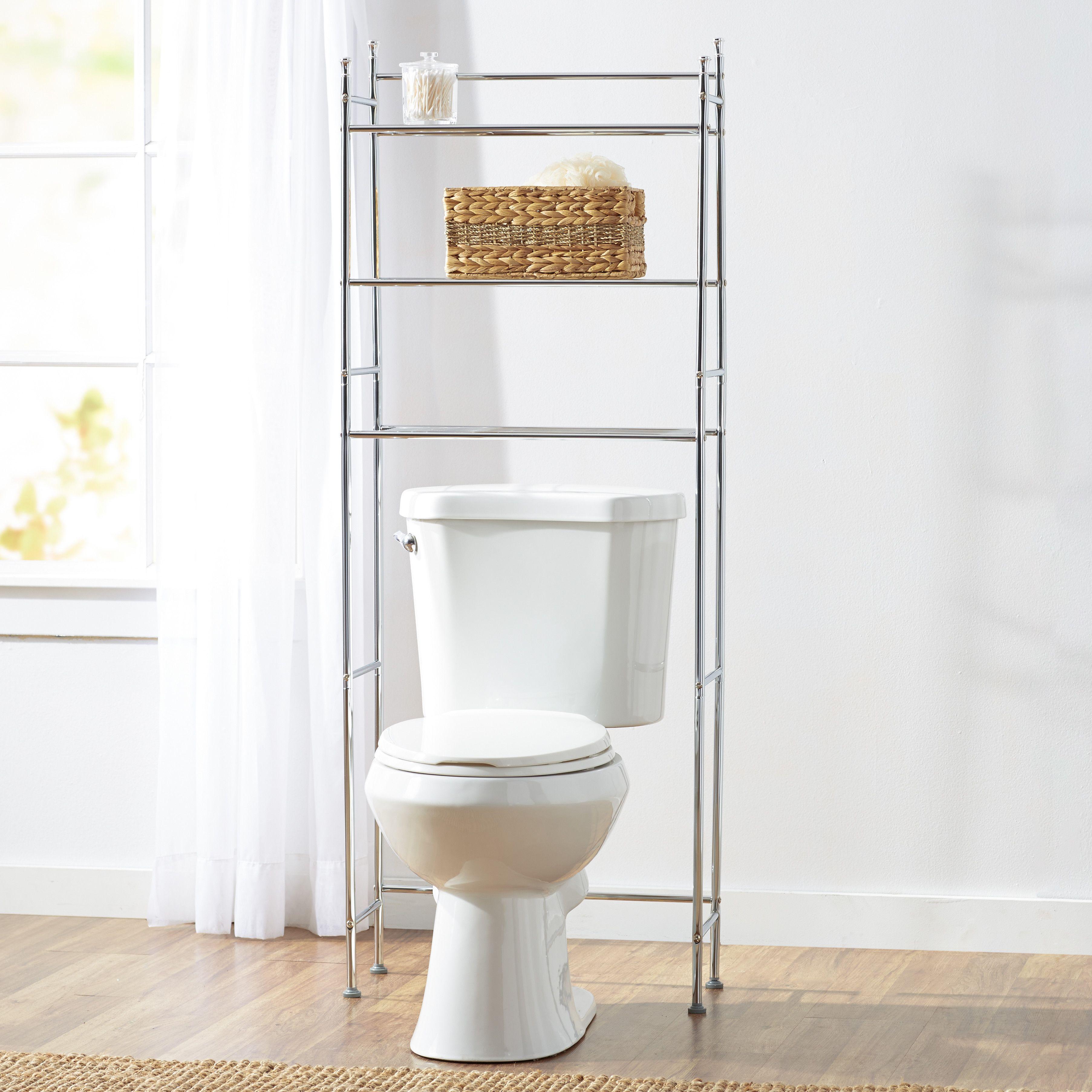 Wayfair Basics Wayfair Basics Over The Toilet Storage Toilet Storage Small Bathroom Storage Bathroom Shelf Decor