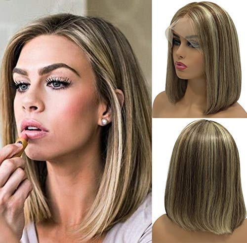 Human Hair Lace Front Wigs T-part for White Women