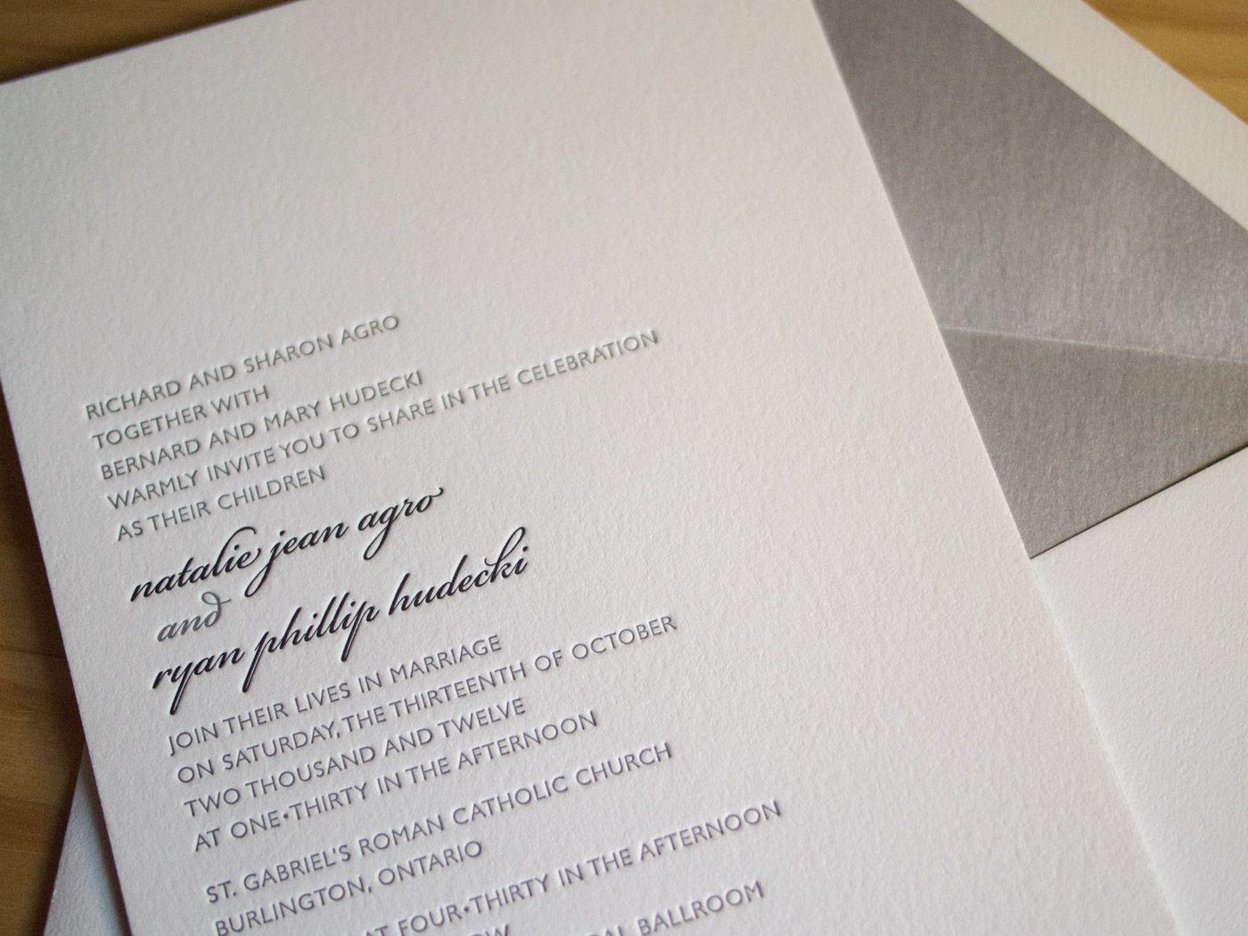Ontario invitation from Parklife Press | TamRon Wedding: Design ...