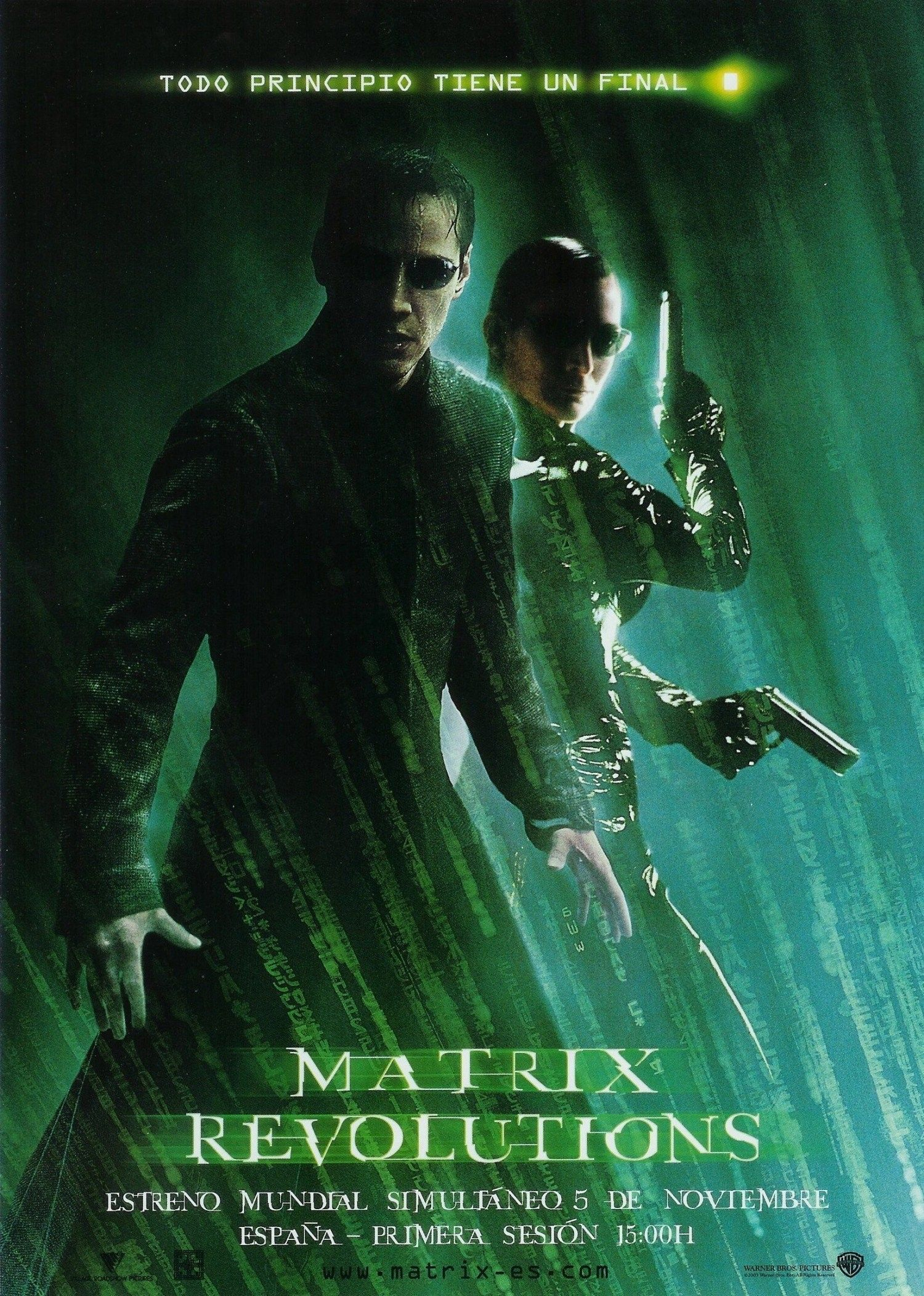 Ver Matrix Revolutions Online Gratis 2003 Hd Película Completa Español The Matrix Movie Movie Posters Revolution Poster