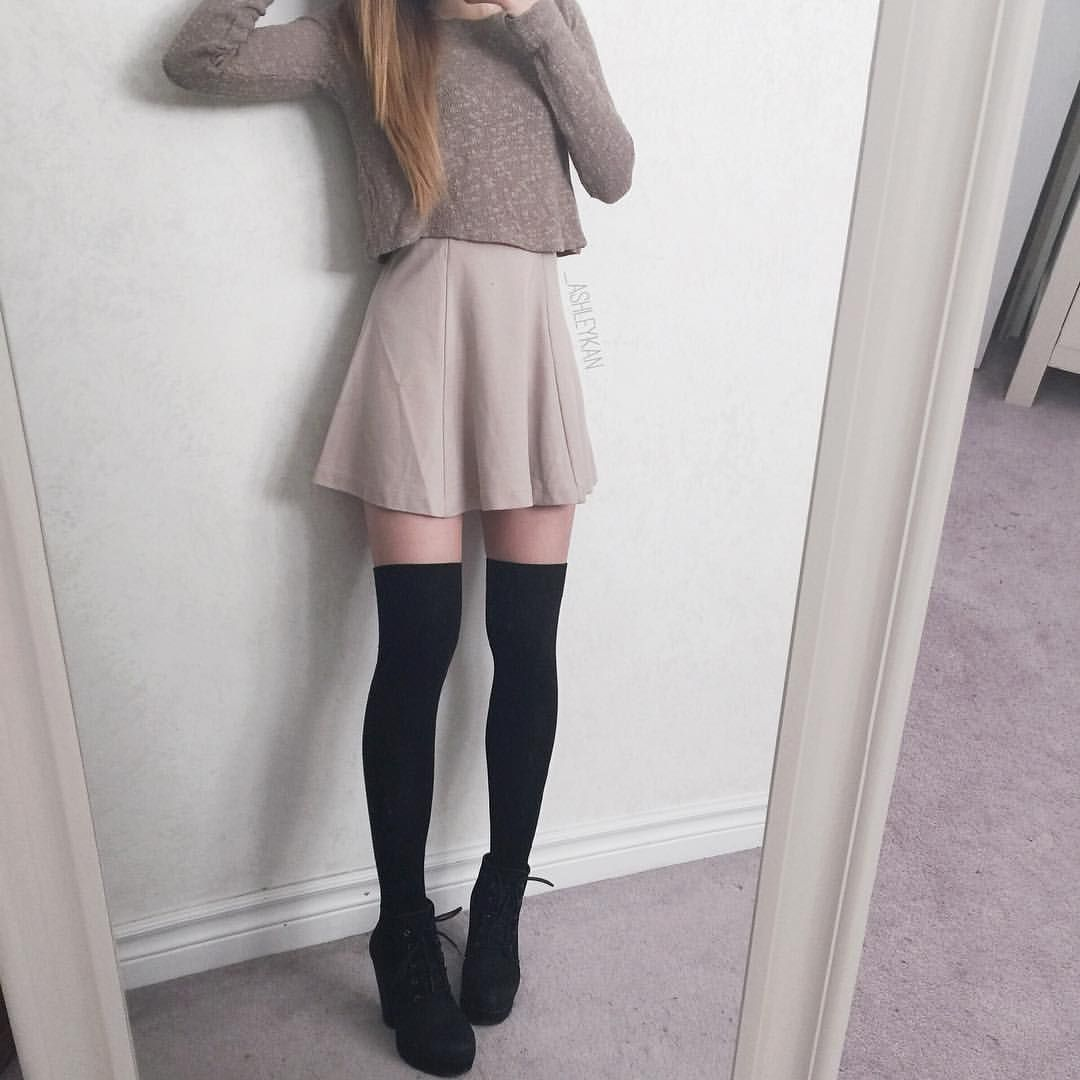 High Thigh socks outfit 2019