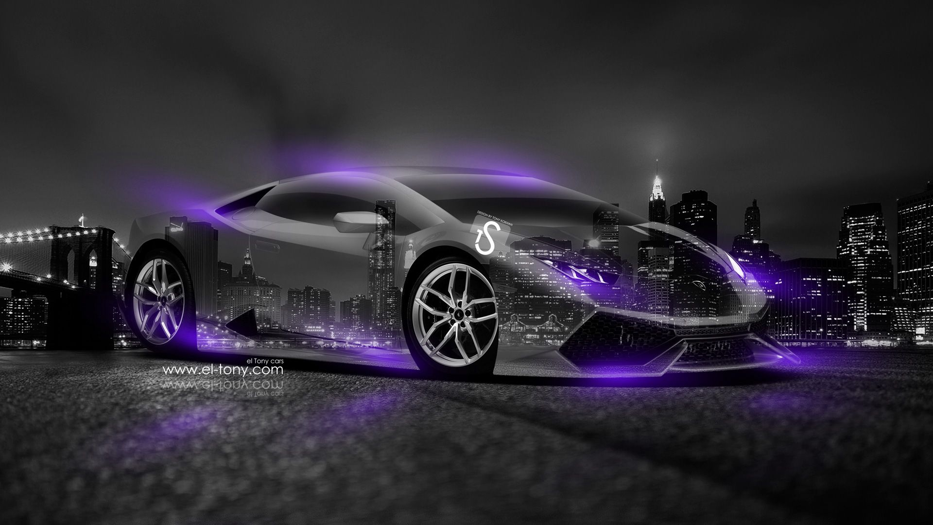 Lamborghini Gallardo Back Abstract Car Design By Tony Kokhan Wallpapers) U2013  HD Desktop Wallpapers