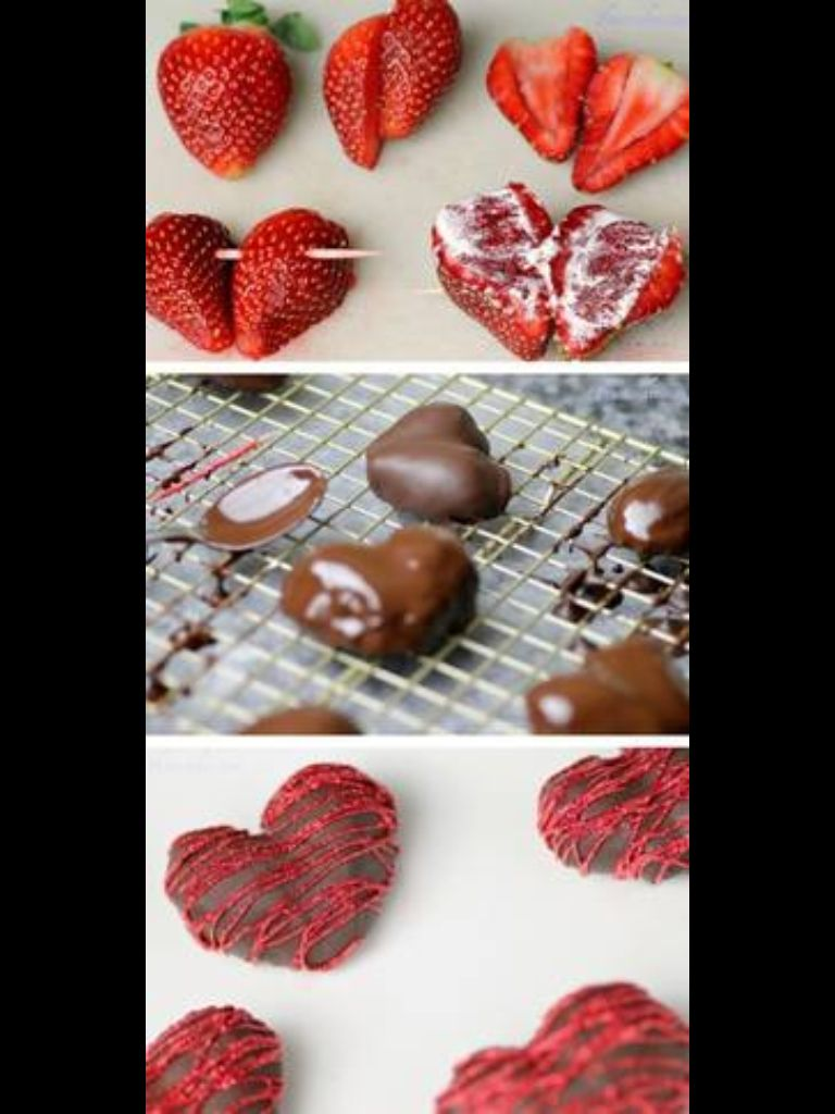 Chocolate Covered Strawberry Hearts With Images Chocolate