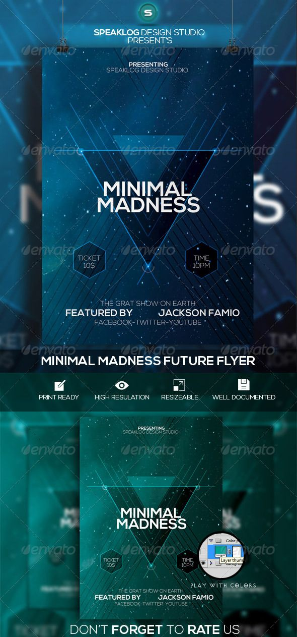 Minimal Madness Future Flyer Design Psd Template  Buy And