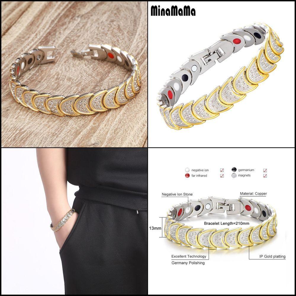Bio energy health magnetic bracelet bangle jewelry birthday gift for