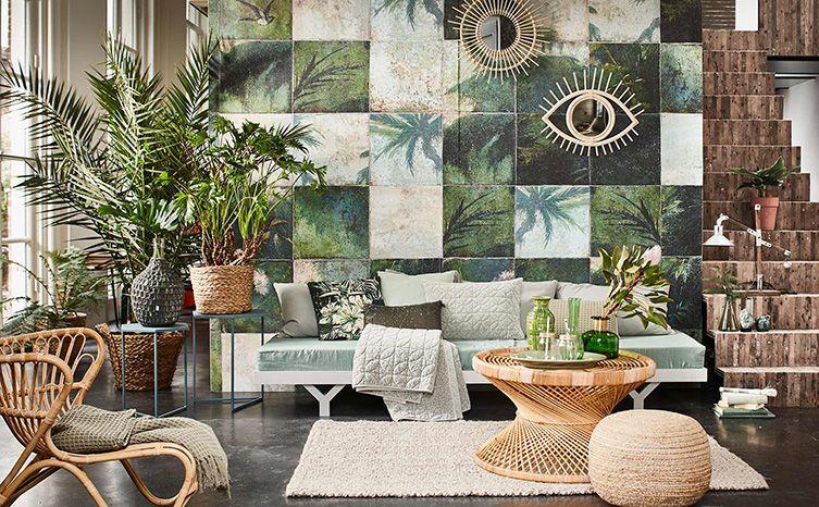 Tropisch Huis Botanisch Tropische Decoratie Decoraties Groen Behang