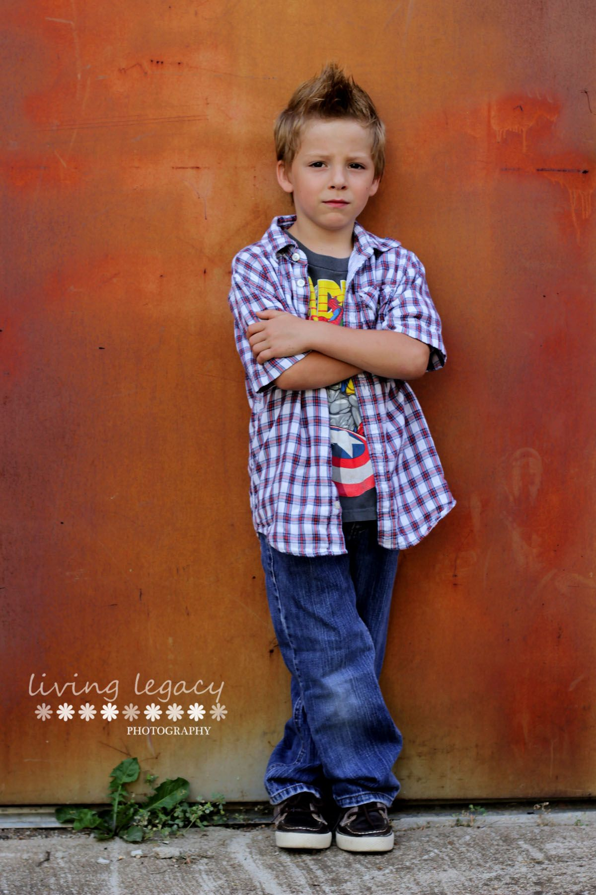 Living Legacy Photography 6 year old boy session outdoor