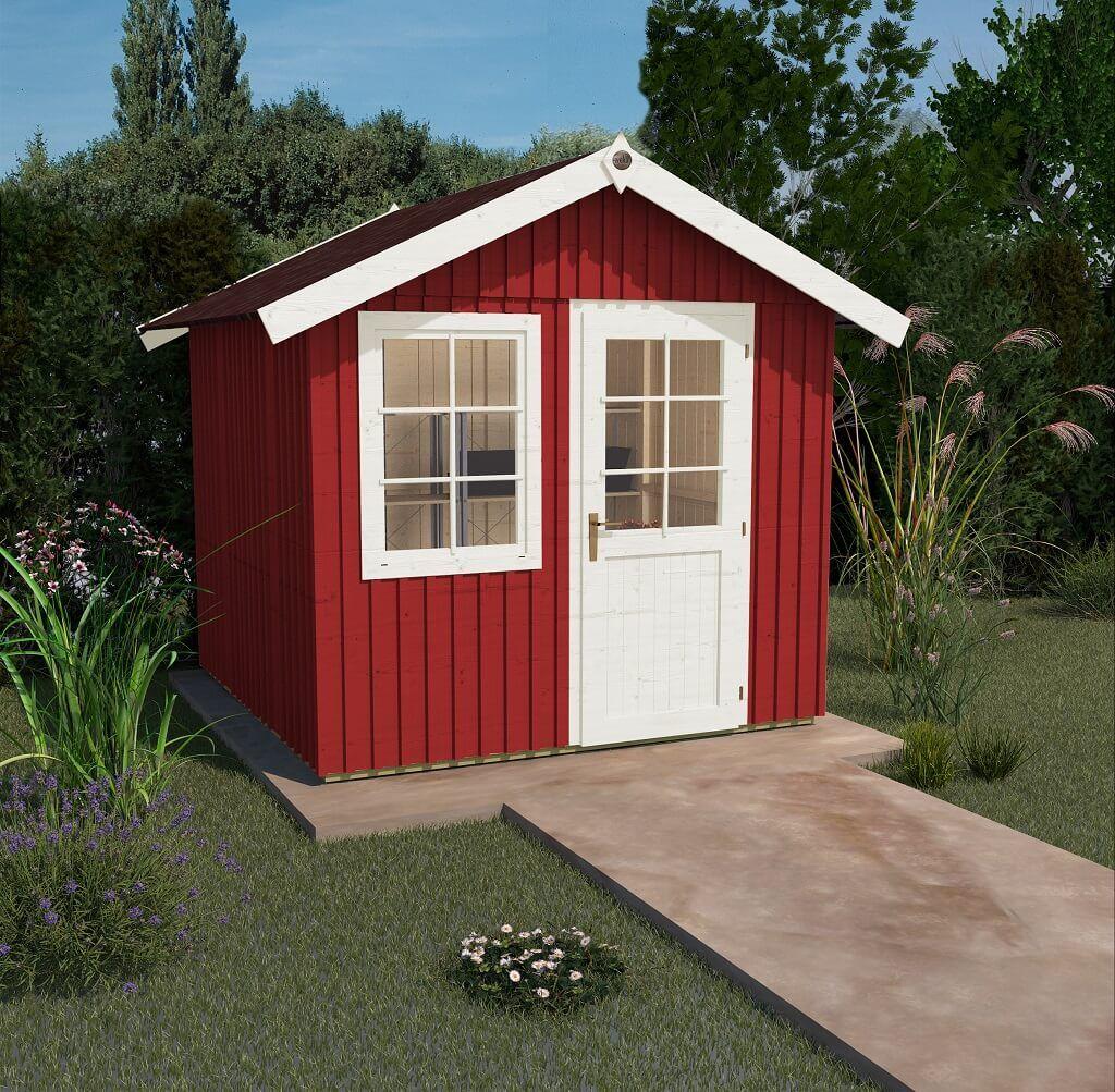 WEKA Schwedenhaus 410 Gartenhaus farbe, Gartenhaus, Haus