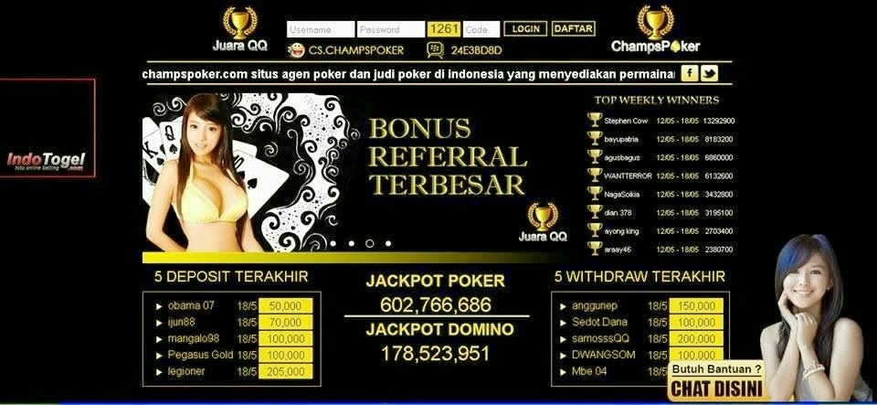Agen Domino dan Poker Online Indonesia situs Champspoker.com