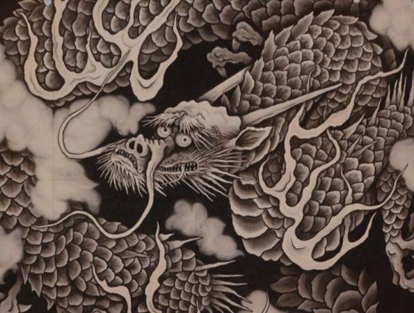 龍の謂れとかたち 建長寺の法堂の天井絵 雲龍図 水墨画 龍 日本の龍 図