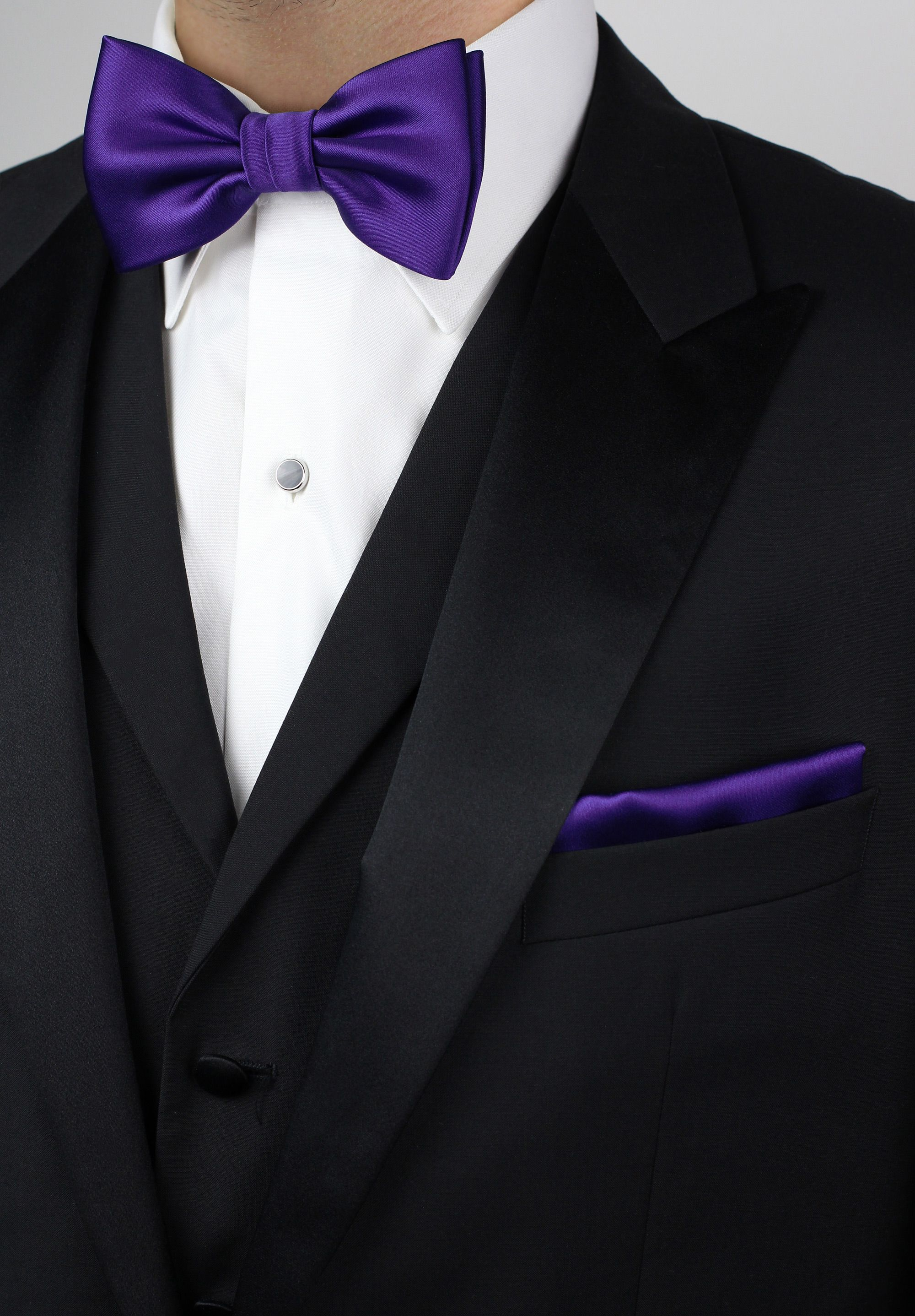 Formal Solid Polyester Boys Bow Tie-Dark Purple