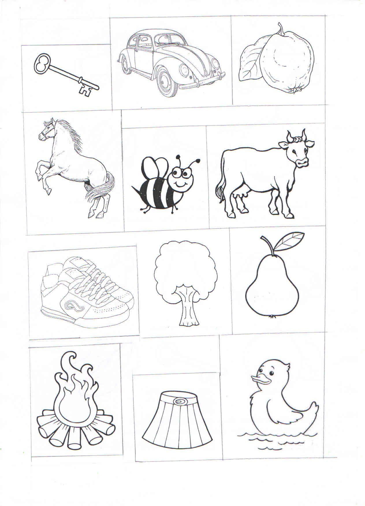 A Sesi Ile Başlayan Nesneler Okuma Yazma Activities Preschool