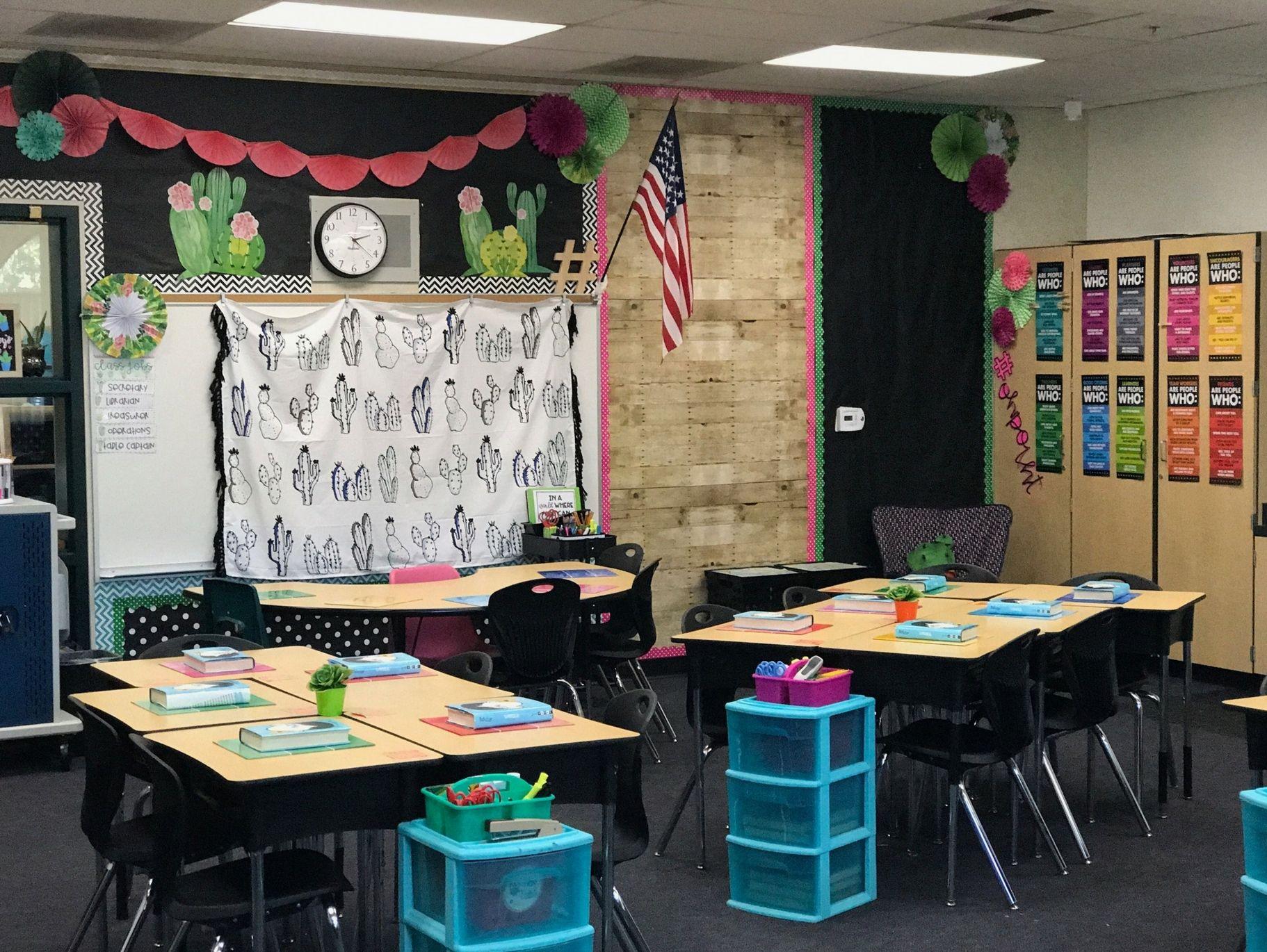 Classroom Decoration Cactus ~ Cactus classroom reveal theme
