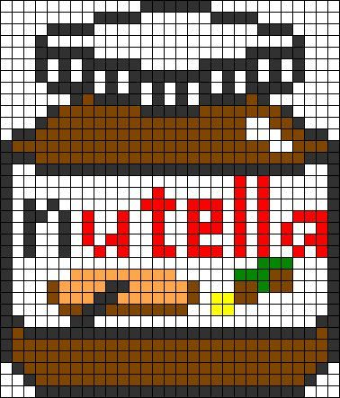 pixel art nutella
