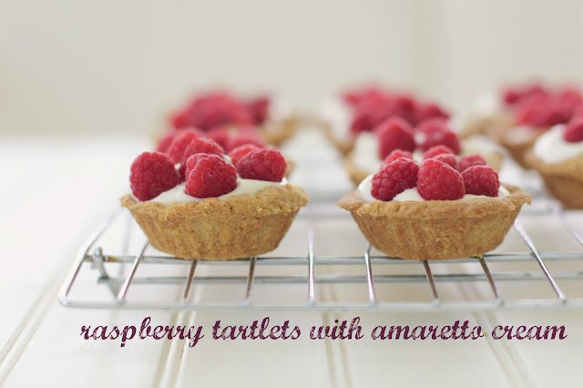 raspberry tartlets with amaretto cream | the vanilla bean blog