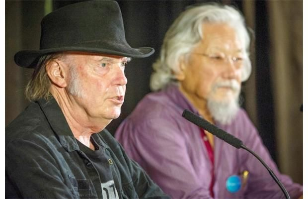 Neil Young pledges $100,000 from Vancouver concert to David Suzuki's