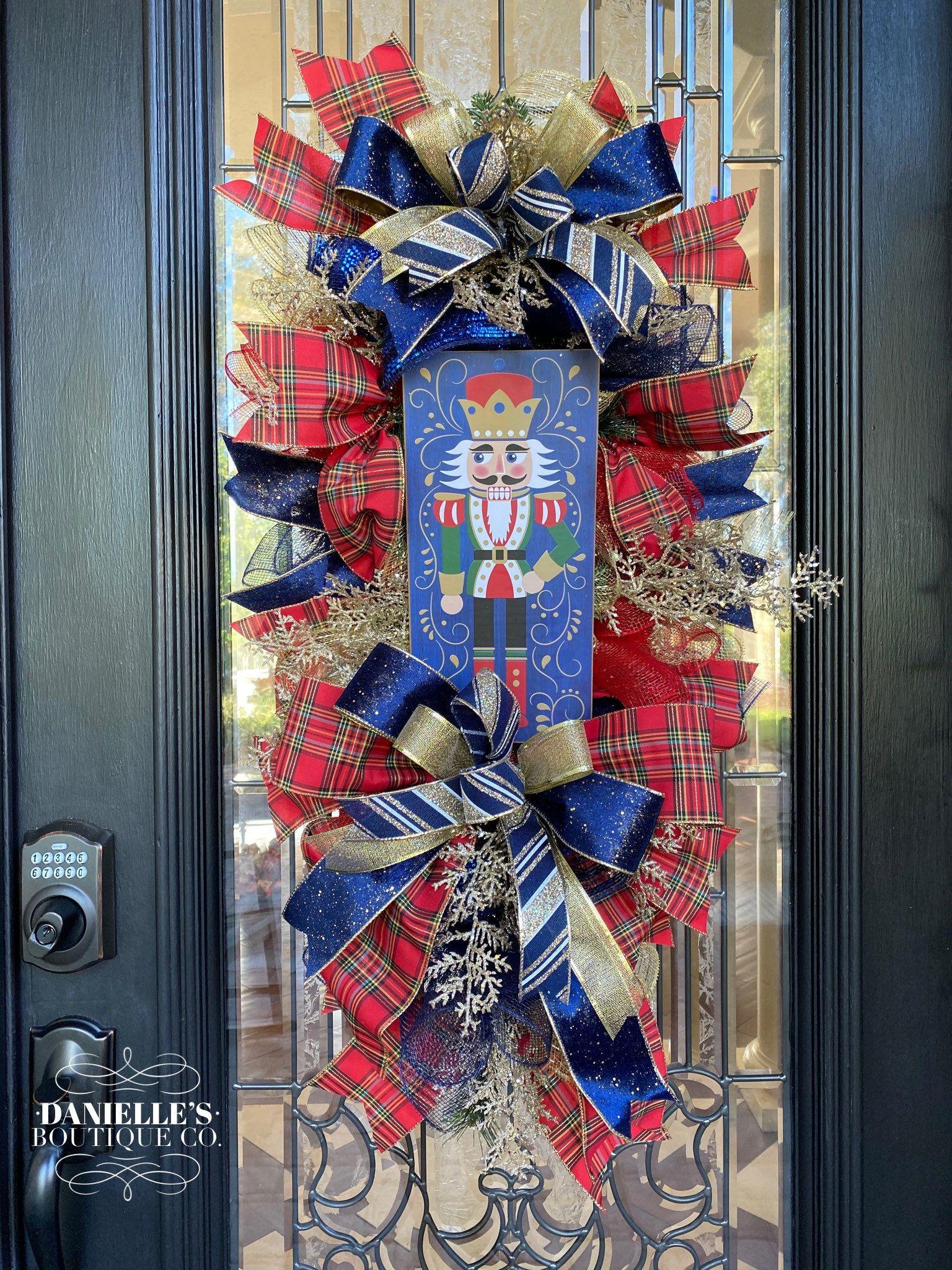 Nutcracker Wreath, Nutcracker Swag, Luxurious Chri