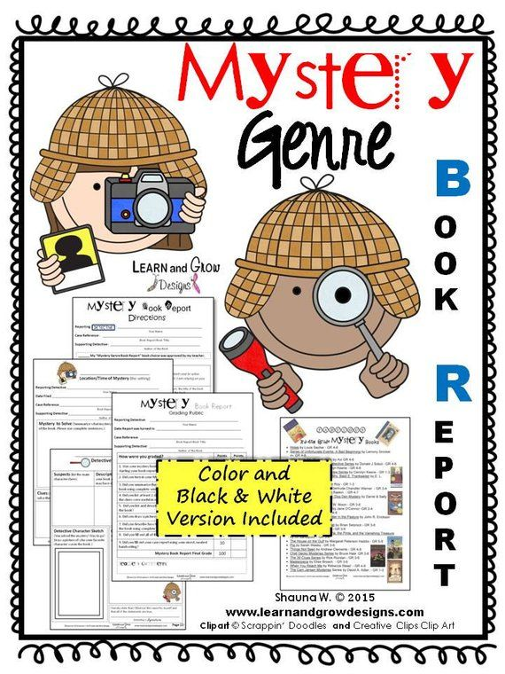 Mystery Genre Book Report | Products | Mystery genre, Book