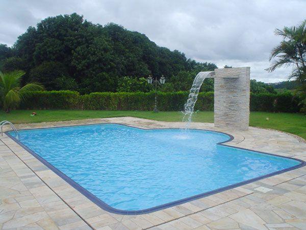 13 modelos de piscinas com cascata piscinas bonitas y torre for Piscina con cascata
