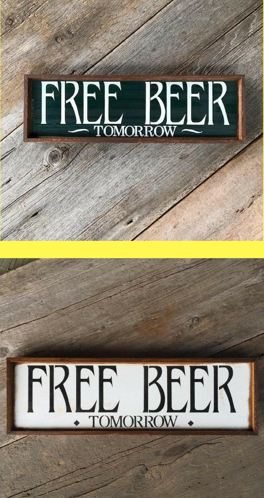 Beer Signs Sayings Bar Home Decor Basement Sign