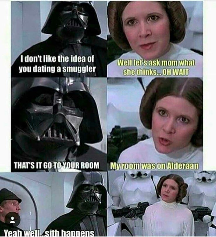 Star Wars 25 Skywalker Family Memes That Will Make True Fans Laugh Funny Star Wars Memes Star Wars Quotes Star Wars Jokes