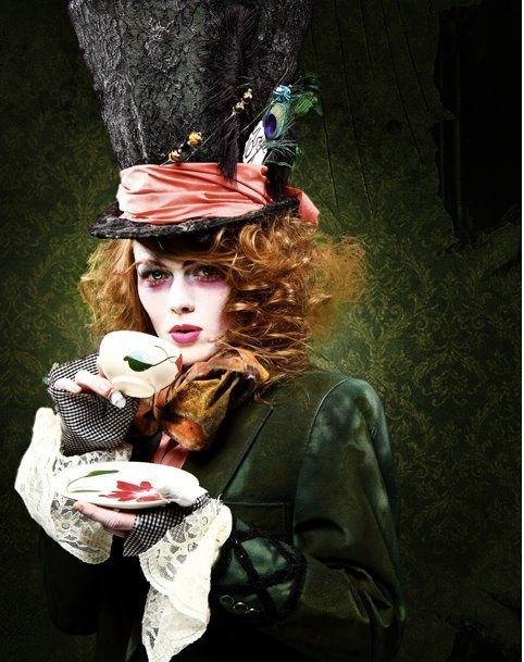 R sultats de recherche d 39 images pour la chapelier fou maquillage haloween pinterest - Maquillage chapelier fou ...