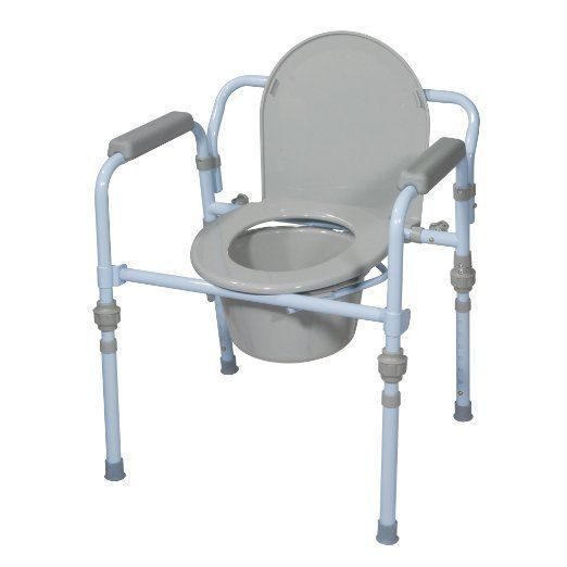 Folding Beside Commode Hospital Chair Handicap Toilet Seat Elderly Safety Frame Bedside Commode Commode Home Safety