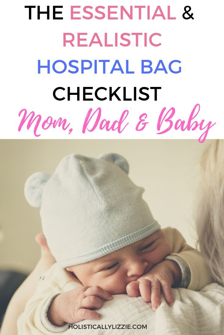The Essential And Realistic Hospital Bag Checklist For Mom