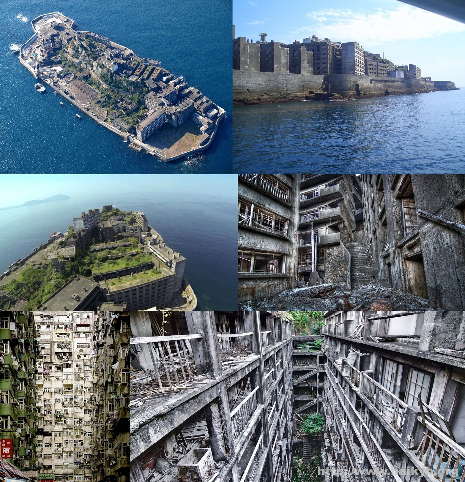 Hashima Island, Japan. In The Past Hashima Island Was Rich