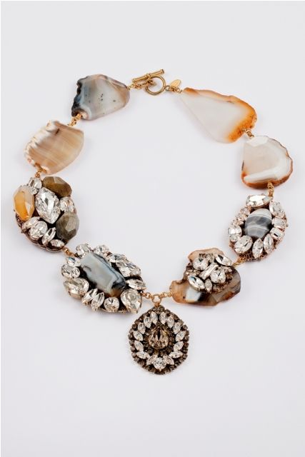 OMG Orange & Gray is now my fave color combo: Anton Heunis GRACE KELLY collection necklace