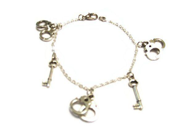 Charm Bracelet Handcuff Jewelry