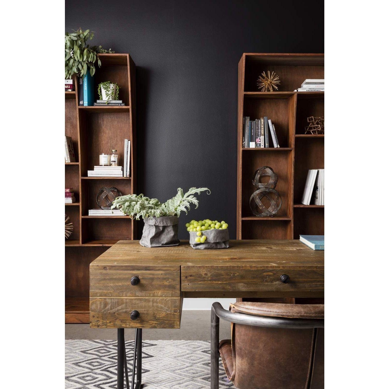 Aurelle Home Rustic Industrial Farmhouse Writing Desk